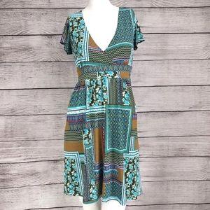Veronica m XS Mini Fit & Flare Dress Patchwork